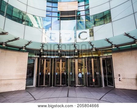 Bbc Broadcasting House In London, Hdr