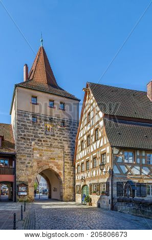 Tower with gate in Lauf an der Pegnitz Germany