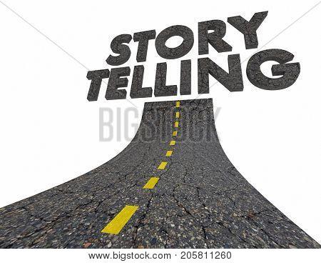 Storytelling Road Communication Tell Information 3d Illustration