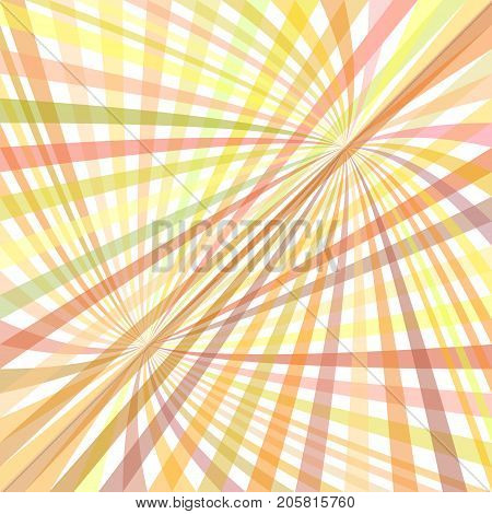 Curved ray burst background - vector graphic design from colorful curved rays