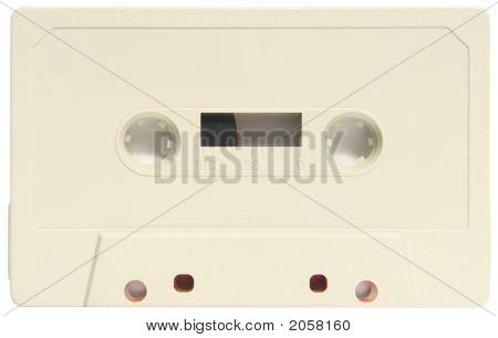 An Old Blank Audio Cassette.