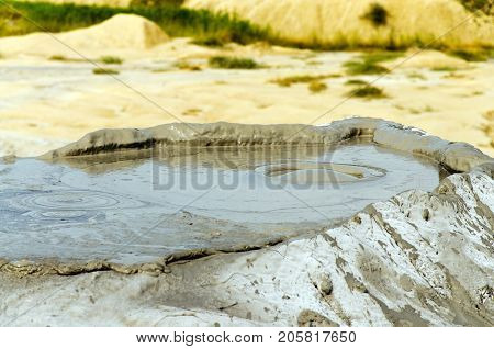 Bubbling Mud Volcano, Berca, Romania - Small Volcano-shaped Structures Caused By The Eruption Of Mud