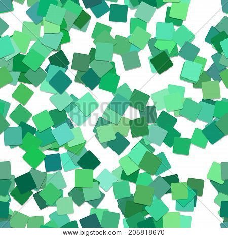 Seamless square pattern background - vector illustration from rotated squares in green tones with shadow effect