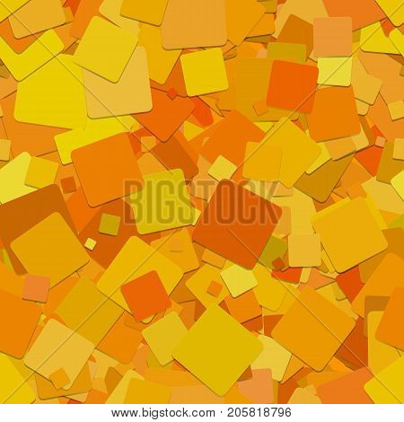 Seamless abstract geometrical square pattern background - vector graphic design from rotated orange squares