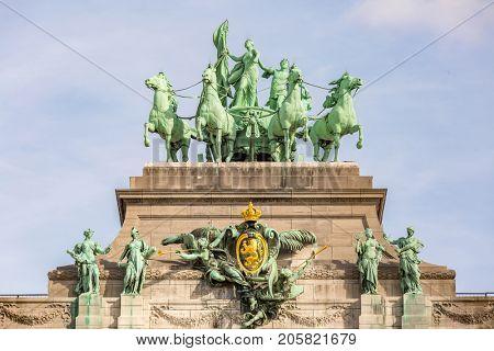 Brussels Triumphal Arch Mounument in Belgium