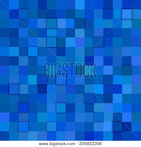 Square tiled background - vector design from squares in blue tones with 3d effect