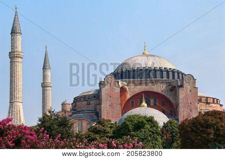 Hagia Sophia or St. Sophia church, Hagia Sophia Mosque -  currently a museum in Istanbul, Turkey
