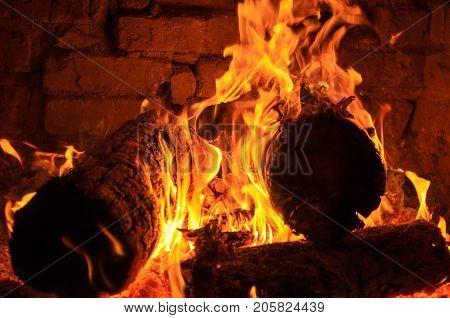Ember burning wood smoldering wood smoldering log