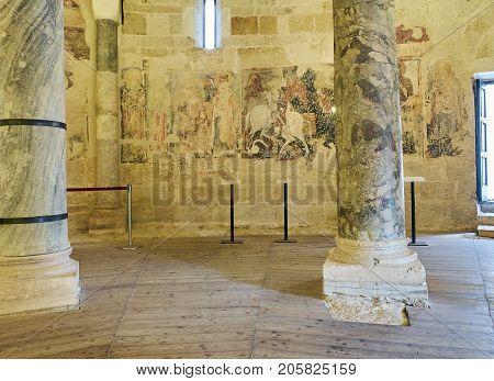 Tempio Di San Giovanni Al Sepolcro Temple Of Brindisi, Italy.