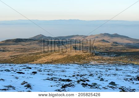 The borderline between winter and autumn, Vitosha national park, Bulgaria