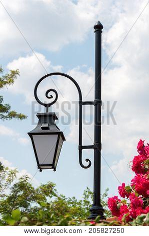 Streetlamp in Old Plovdiv Bulgaria Eastern Europe