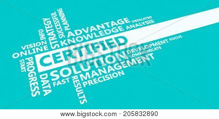 Certified Presentation Background in Blue and White