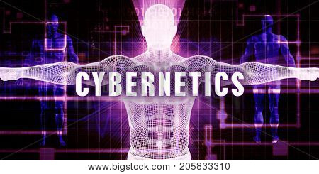 Cybernetics as a Digital Technology Medical Concept Art