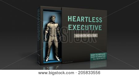 Heartless Executive Employment Problem and Workplace Issues 3D Illustration Render