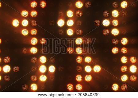Flashing Lights Bulb Spotlight Flood Lights Arrow Vj Led Wall Stage Led Display Blinking Lights