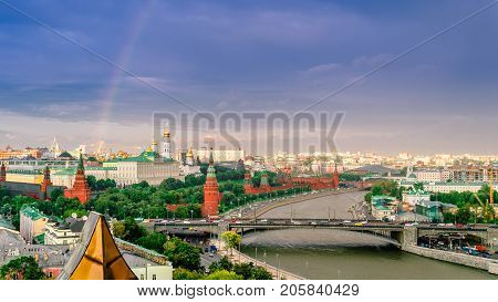 Moscow. The Kremlin. The Grand Kremlin Palace.Grand Kremlin Palace is the decoration of the Moscow Kremlin is the official ceremonial residence of the President of Russia.