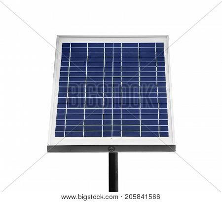 Small solar battery isolated on white background.