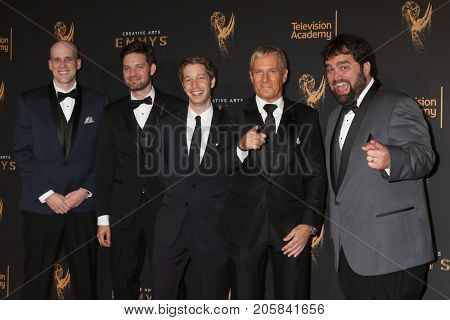 LOS ANGELES - SEP 9:  Dan Murrell, Joe Starr, Spencer Gilbert, Michael Bolton, Andy Signore at the 2017 Creative Emmy Awards at the Microsoft Theater on September 9, 2017 in Los Angeles, CA