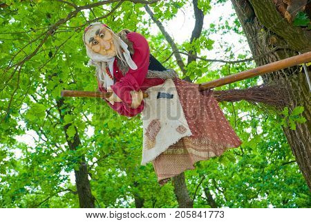 A fabulous character- Baba Yaga on tree