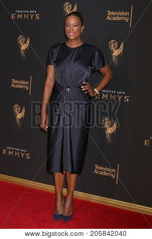 LOS ANGELES - SEP 9:  Aisha Tyler at the 2017 Creative Emmy Awards at the Microsoft Theater on September 9, 2017 in Los Angeles, CA