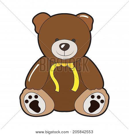 Happy teddy bear seamless pattern Cute vector background