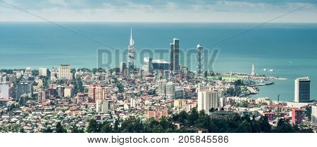 View on the center of Batumi from High point