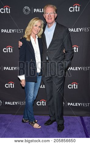 LOS ANGELES - SEP 08:  Ed Begley Jr. and Rachelle Carson arrives for the PaleyFest Fall Preview - 'Future Man' on September 8, 2017 in Beverly Hills, CA