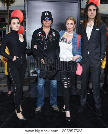 LOS ANGELES - SEP 05:  Sophie Simmons, Gene Simmons, Shannon Tweed and Nick Simmons arrives for the 'IT' World Premiere on September 5, 2017 in Hollywood, CA