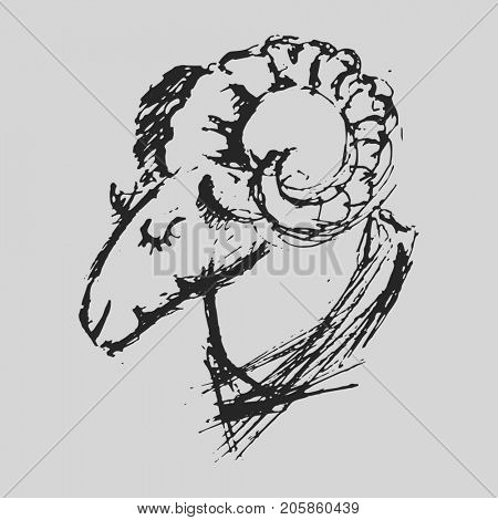 Aries Astrological zodiac symbol. Horoscope sign.