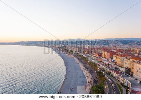 Nice Beach Day View, France