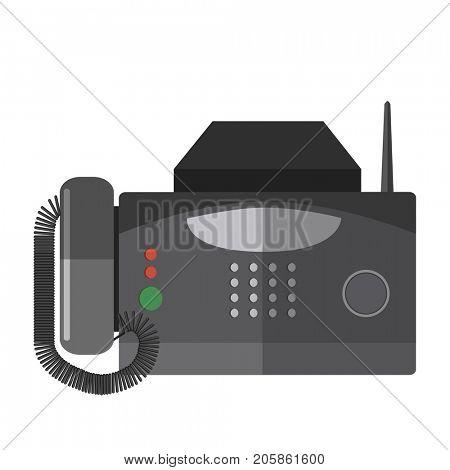 illustration of fax machine.