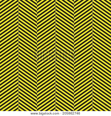 Seamless Black and Yellow Herringbone Pattern Background