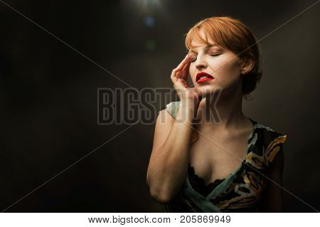 Beautiful warm portrait of a gorgeous model.