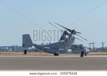 Bell Boeing Mv-22 Osprey Performing At The Miramar Air Show