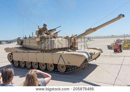 Military Vehicles Performing At The Miramar Air Show