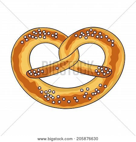 Bagel single icon in cartoon style.Bagel, vector symbol stock illustration .
