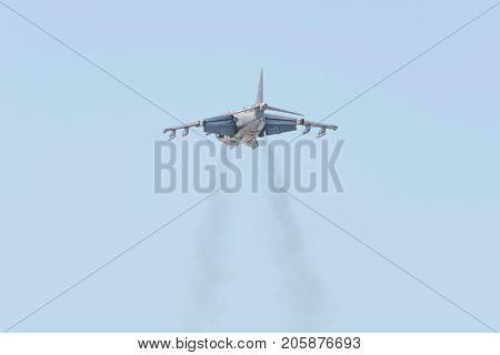 Boeing Av-8B Harrier Ii Performing At The Miramar Air Show