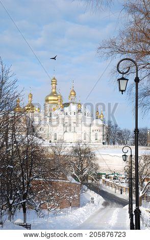 Kiev Pechersk Lavra in Kiev, country of Ukraine, winter