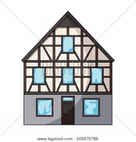 House single icon in cartoon style.House vector symbol stock illustration .