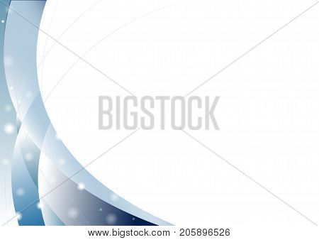 Abstract blue curve overlap on white background with soft lights Vector illustration