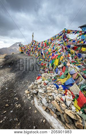 Taglangla Pass - the second highest motorable pass in the world at 17582 ft. Ladakh, Kashmir, India