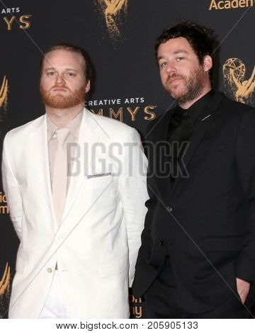 LOS ANGELES - SEP 10:  Michael Stein, Kyle Dixon at the 2017 Creative Arts Emmy Awards - Arrivals at the Microsoft Theater on September 10, 2017 in Los Angeles, CA