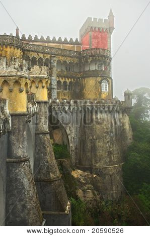 Royal Pena Palace, North Wall