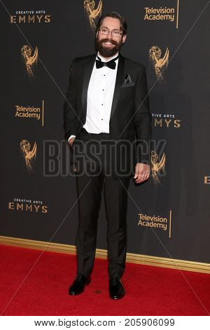 LOS ANGELES - SEP 10:  Martin Starr at the 2017 Creative Arts Emmy Awards - Arrivals at the Microsoft Theater on September 10, 2017 in Los Angeles, CA