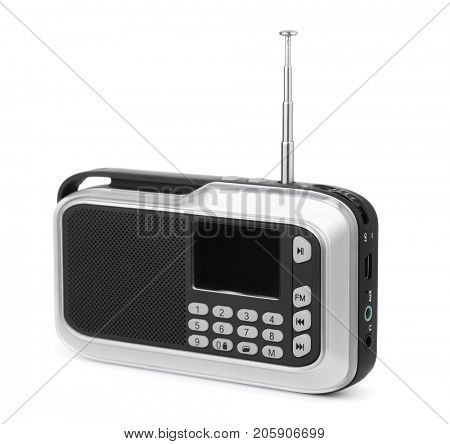FM radio mp3 player isolated on white