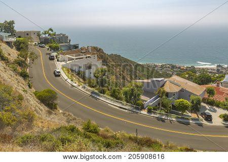 Coastal Views Of Homes In Laguna Beach California
