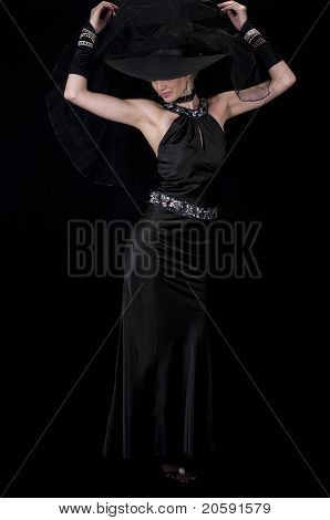 High Fashion Model In Evening Wear