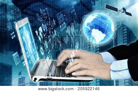 Conceptual image of internet software or  data programming