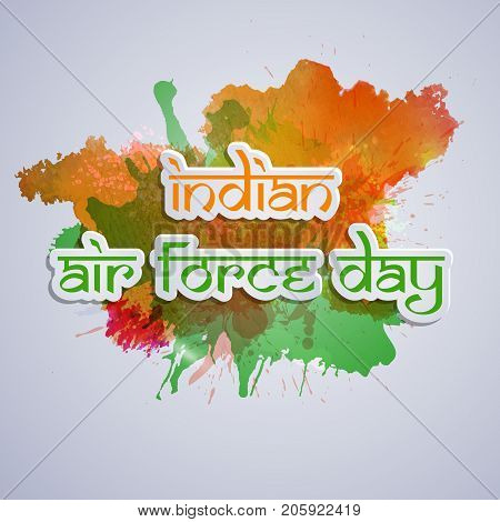illustration of Indian Air Force Day text on the occasion of Indian Air Force Day