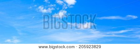 panorama sky and cloud vivid summer time beautiful background